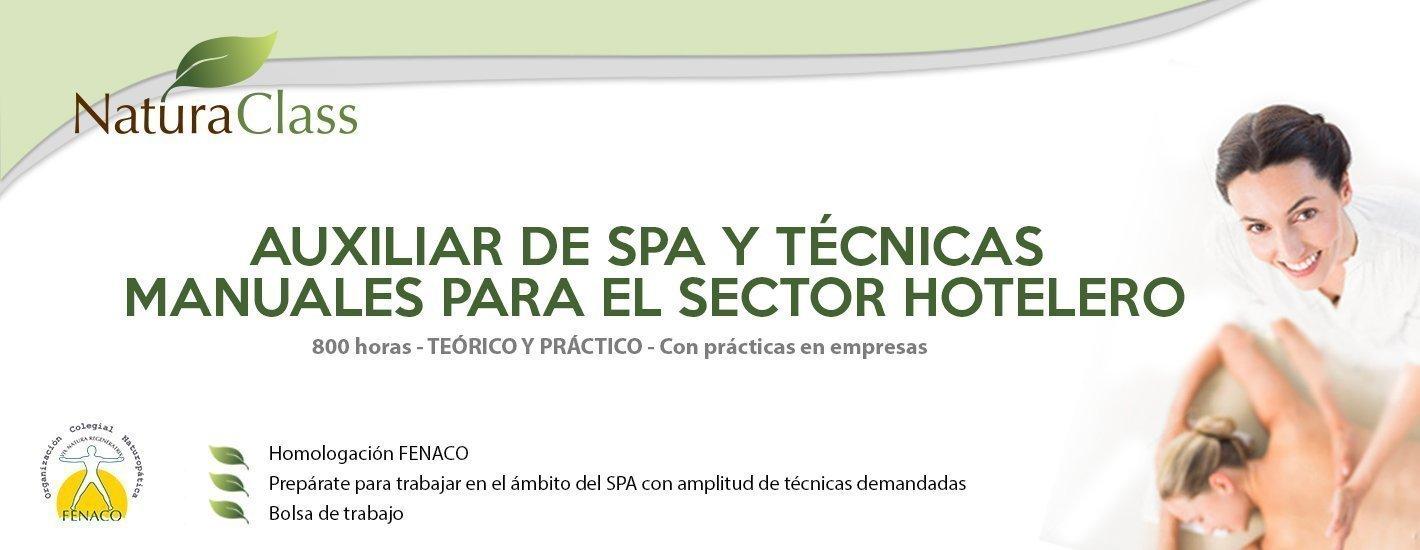 Auxiliar de SPA y Técnicas Manuales para el Sector Hotelero
