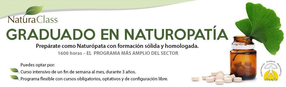 Graduado en Naturopatía (PGN)   NATURACLASS