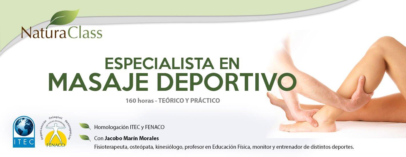 Curso de Especialista en Quiromasaje Deportivo
