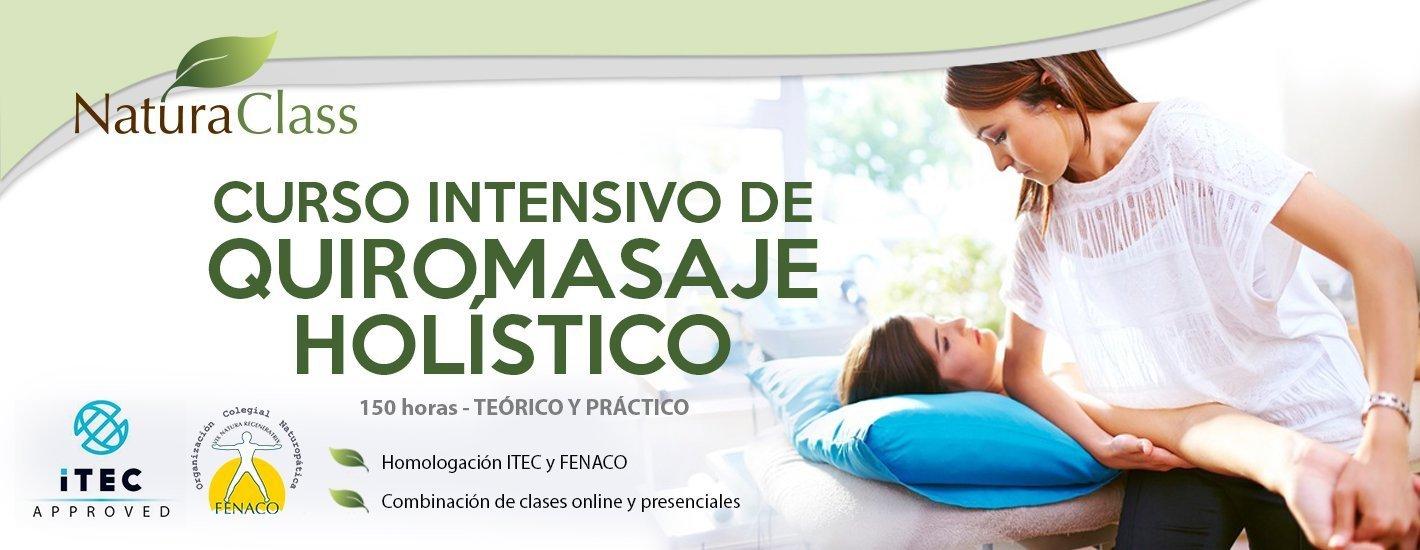 Curso intensivo de Quiromasaje  (semi-presencial, ITEC nivel 3)
