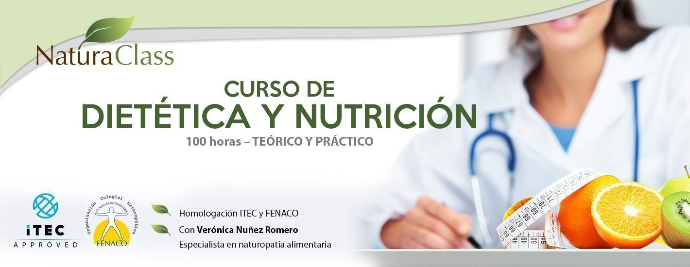 Curso de Naturopatía Alimentaria I (Dietética y Nutrición para Naturopatía)