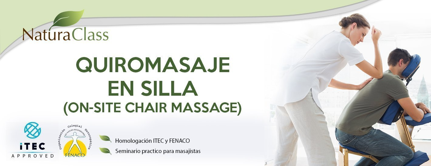 Curso de quiromasaje en silla (On-Site Chair Massage)